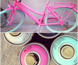 bike, colour, and pink image