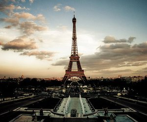 eiffel tower, france, and holiday image