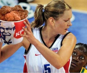 Basketball, Chicken, and funny image