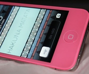 pink, iphone, and hakuna matata image