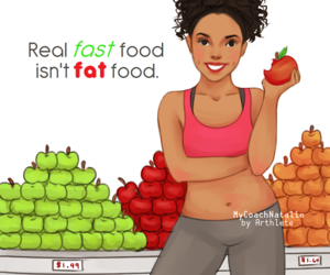 apple, fast food, and fat image