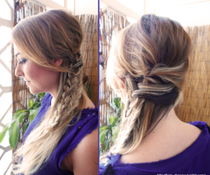 braid, cabelo, and fishtail image
