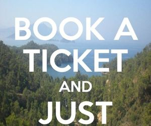 leave, ticket, and travel image