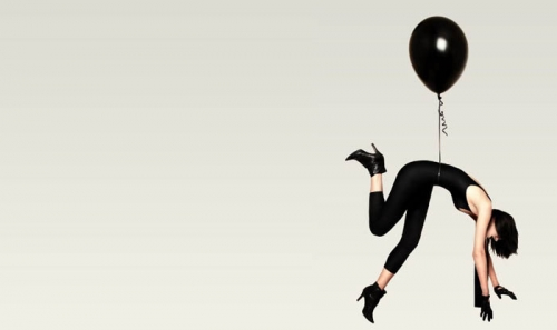 balloon, black, and fashion image