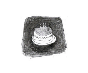 birthday, birthday cake, and illustration image