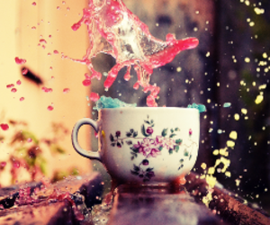 cup, tea, and colors image