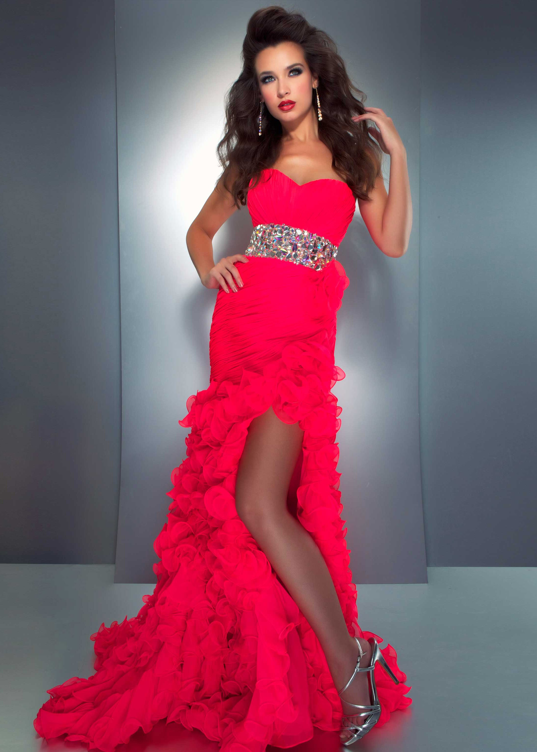 Cassandra Stone by Mac Duggal 64309A - Candy Pink Strapless High Low ...