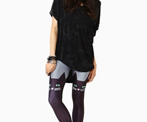 animal, leggings, and style image