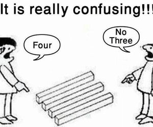 Confusing Four And Three Image