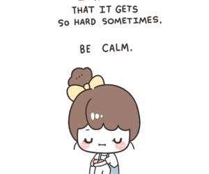 calm, quote, and hard image