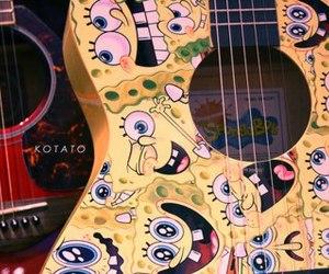 guitar, spongebob, and bob esponja image