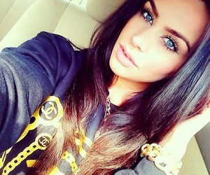 girl, pretty, and eyes image