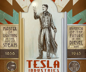 Tesla, poster, and steampunk image