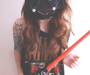 girl, tattoo, and star wars image