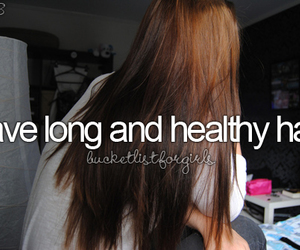 hair, girl, and healthy image