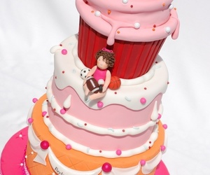 cake, pretty, and colors image