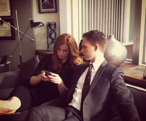 suits, mike ross, and donna paulsen image