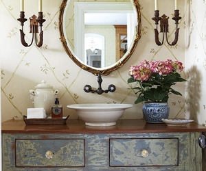 bath, beige, and chic image