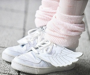 shoes, wings, and pastel image