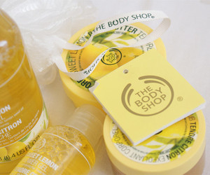 yellow, the body shop, and luxury image
