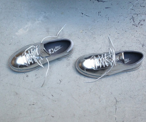 nike, shoes, and silver image