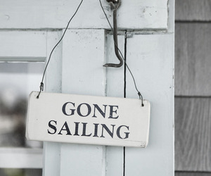 beach, door, and gone sailing image