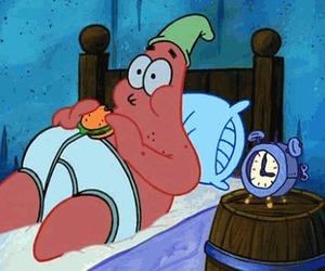 patrick, food, and spongebob image