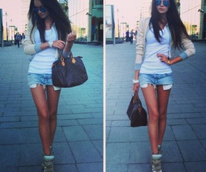 beach, skinny, and trend image