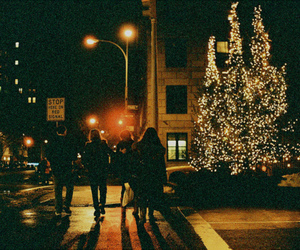 christmas, night, and vintage image