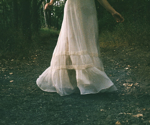 dress, indie, and forest image