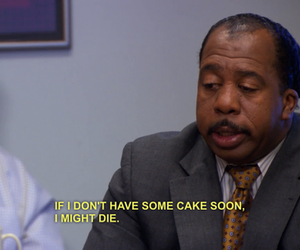 funny, cake, and the office image
