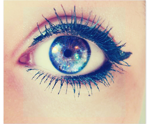 eyes, galaxy, and makeup image