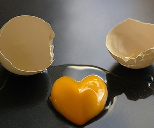 egg, heart, and love image