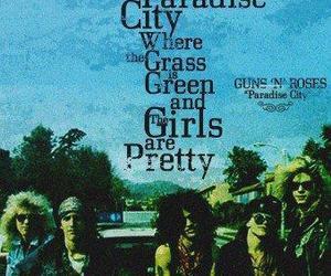 Guns N Roses, rock, and paradise city image