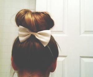 bow, girl, and bun image