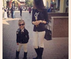 fashion, mom, and baby image