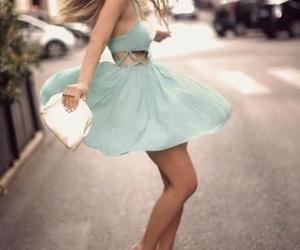 dress, fashion, and mint image