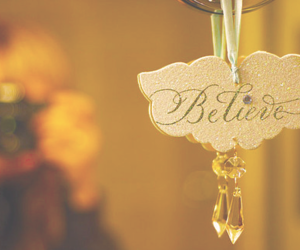 believe, crystal, and word image