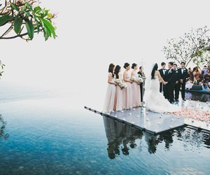 bride, sea, and wedding image