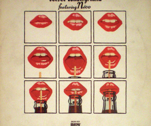 lips, red, and andy warhol image