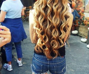 curly and blonde long hair image