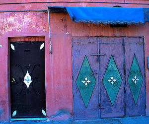 blue, door, and morocco image