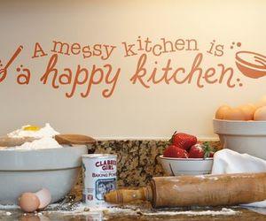 kitchen, food, and happy image