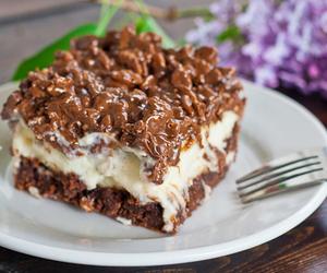 brownies, chocolate, and cream cheese image