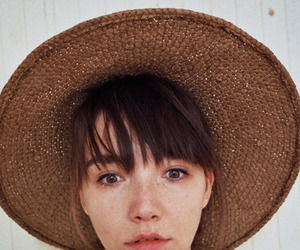 girl, bangs, and freckles image