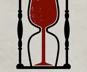 illustration, time, and wine image