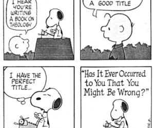 snoopy, theology, and peanuts image