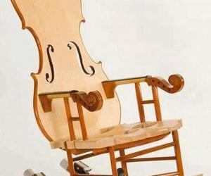 cello, chair, and music image
