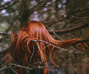 girl, tree, and branches image