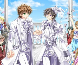 anime, lelouch lamperouge, and bl image